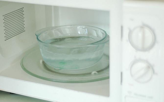 Limpieza del horno microondas