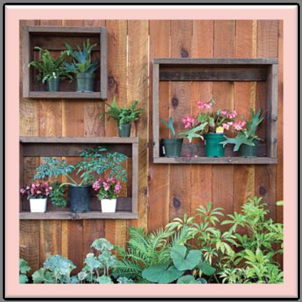 Gavetas recicladas para la jardinera