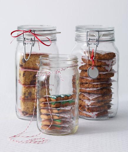 Porta galletas de vidrio