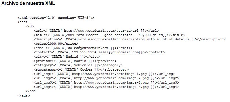 Archivo muestra XML