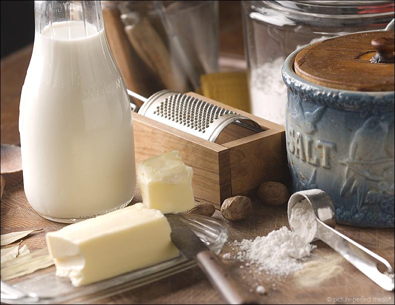 Ingredientes para hacer salsa bechamel