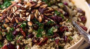 Quinoa con champiñones y dátiles