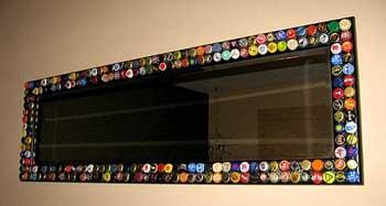 Ideas para decorar tu casa con chapas for Espejo rectangular con marco